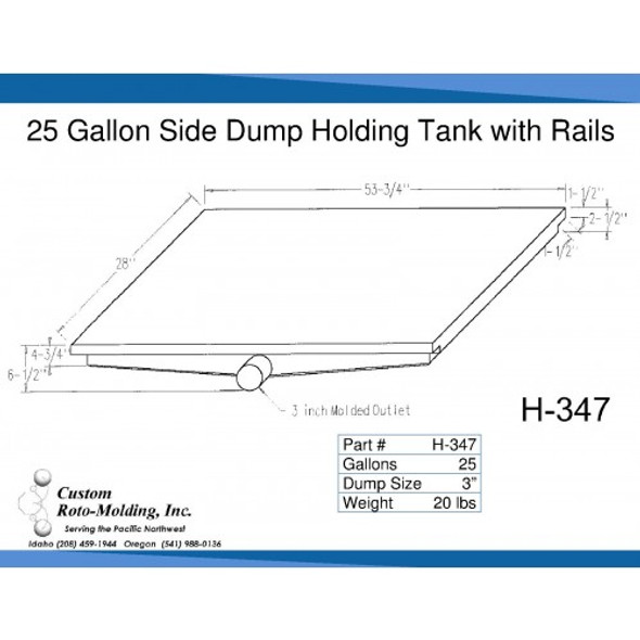 30 Gallon Side Dump RV Holding Tank | H-347