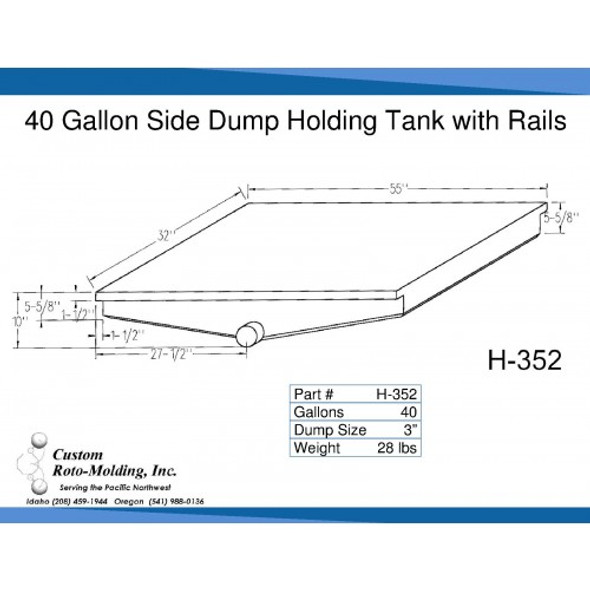 40 Gallon Side Dump RV Holding Tank | H-352