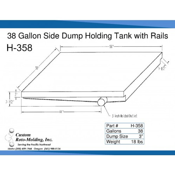 38 Gallon Side Dump RV Holding Tank | H-358