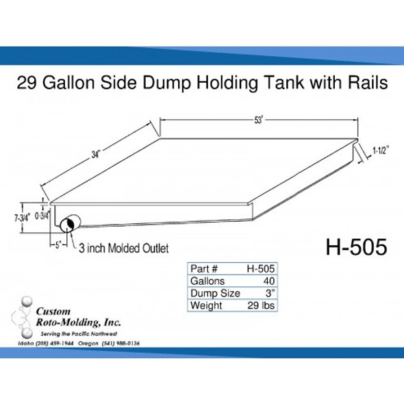 40 Gallon Side Dump RV Holding Tank | H-505