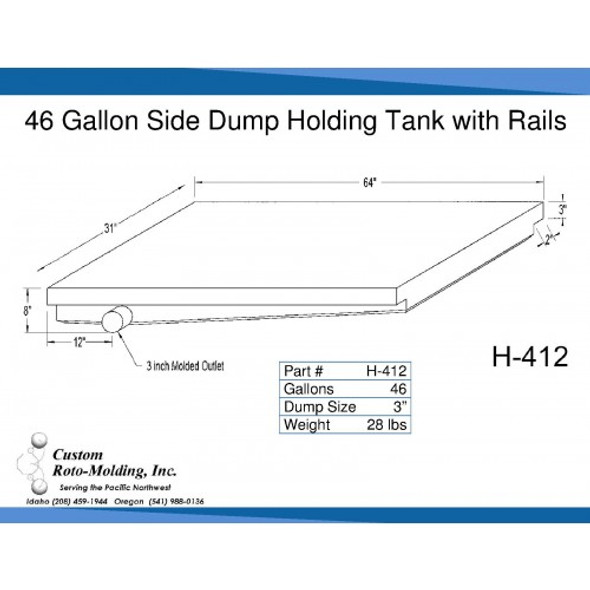 46 Gallon Side Dump RV Holding Tank | H-412