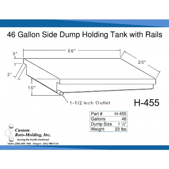 46 Gallon Side Dump RV Holding Tank | H-455