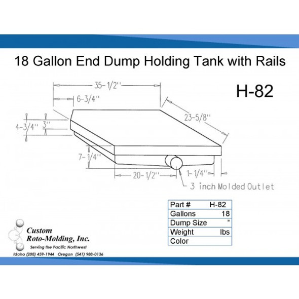 18 Gallon Side Dump RV Holding Tank | H-82