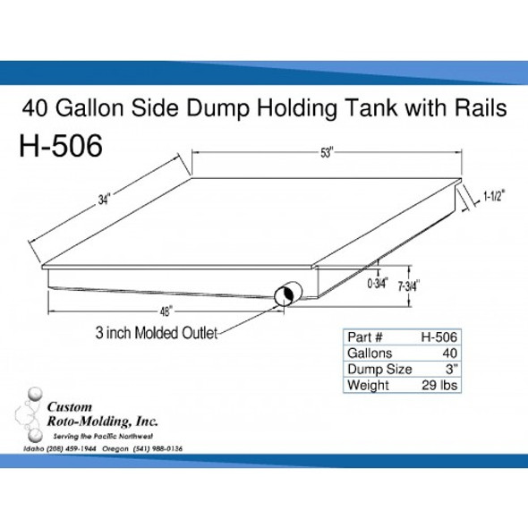40 Gallon Side Dump RV Holding Tank | H-506