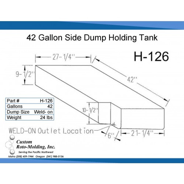 42 Gallon Side Dump RV Holding Tank | H-126