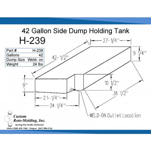 42 Gallon Side Dump RV Holding Tank | H-239