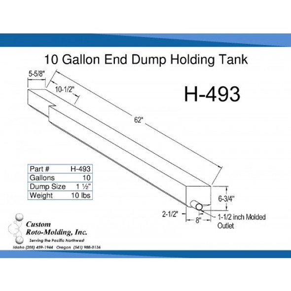 10 Gallon End Dump RV Holding Tank | H-493