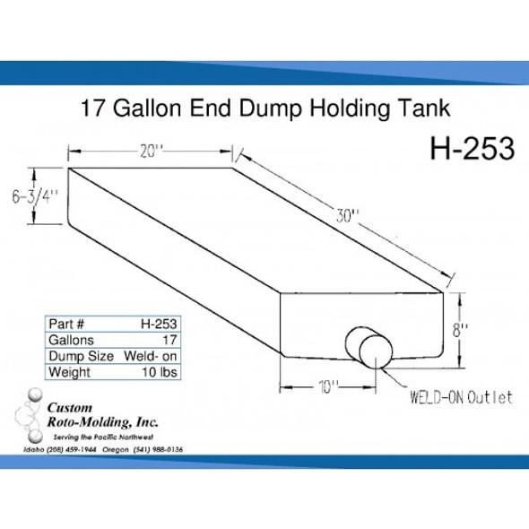 17 Gallon End Dump RV Holding Tank | H-253