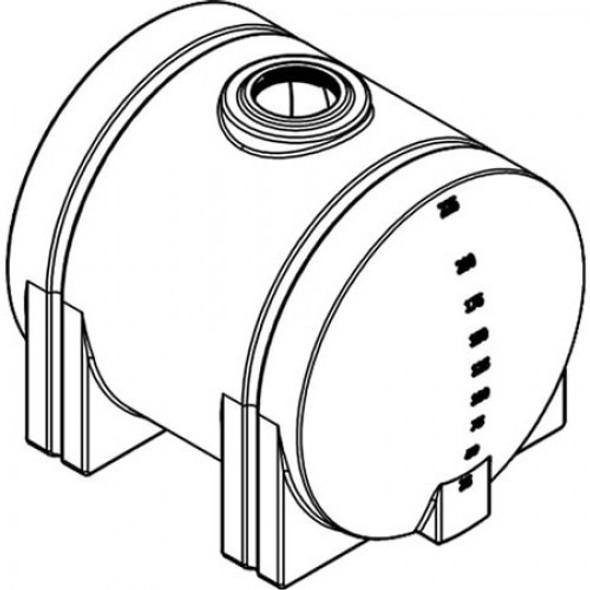 225 Gallon Horizontal Leg Tank | 40299