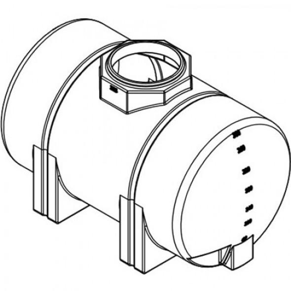325 Gallon Horizontal Leg Tank | 40217