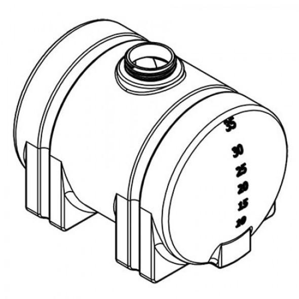 525 Gallon Horizontal Leg Tank | 40181