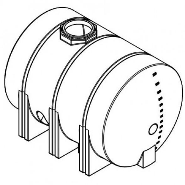 1325 Gallon Horizontal Leg Tank | 41875