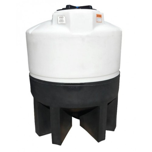 300 Gallon Cone Bottom Tank with Poly Stand | 62343
