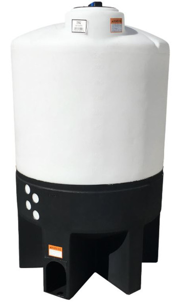 310 Gallon Cone Bottom Tank with Poly Stand | 62441