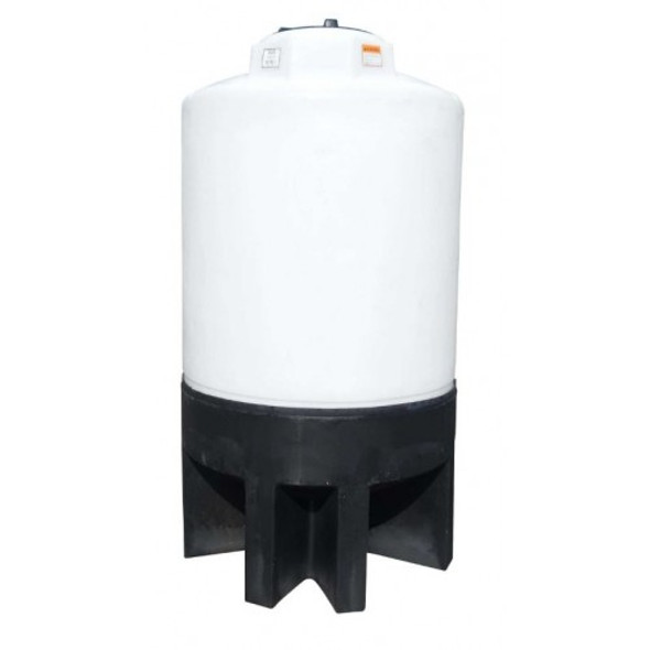 500 Gallon Cone Bottom Tank with Poly Stand | 40289