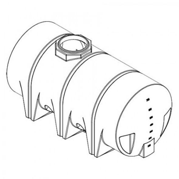 710 Gallon Drainable Leg Tank | 40655