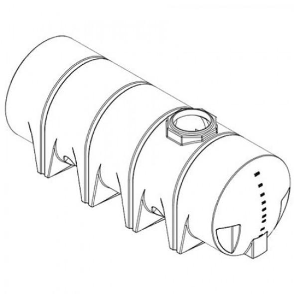 1010 Gallon Drainable Leg Tank  | 40393