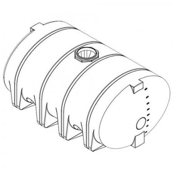 2610 Gallon Drainable Leg Tank  | 41382