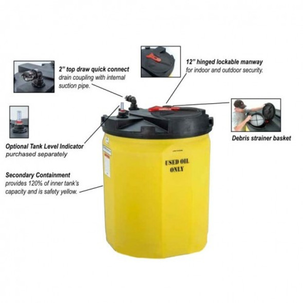 120 Gallon Waste Used Oil Tank | 5700102N95703