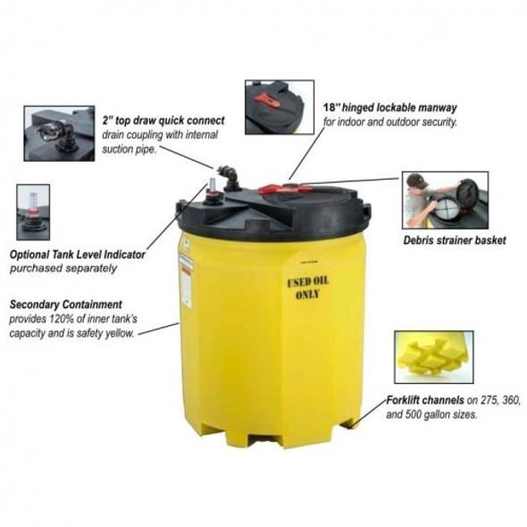 500 Gallon Waste Used Oil Tank   5780102N95703