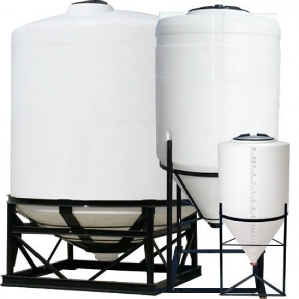 225  Gallon Cone Bottom Tank with Poly Stand | 1560400N45