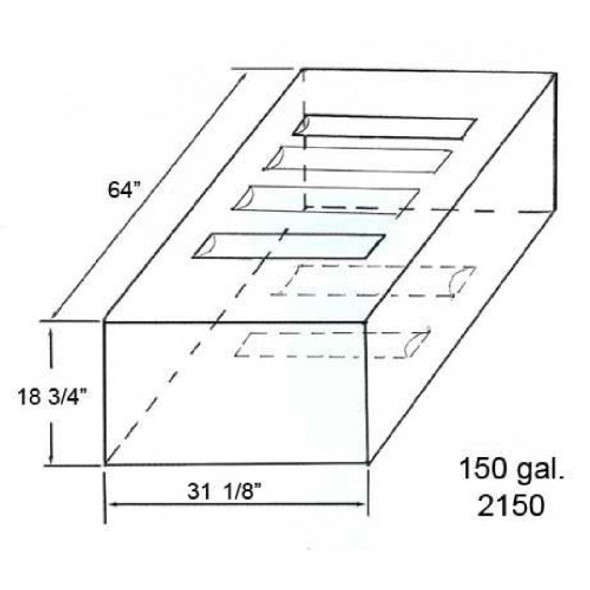 150 Gallon Water or Waste Holding Tank | TRI-WH-2150