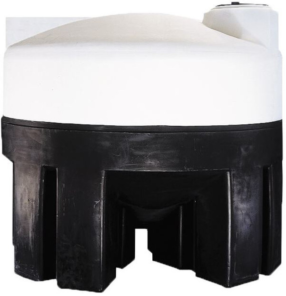550 Gallon Cone Bottom Tank with Poly Stand | 44649
