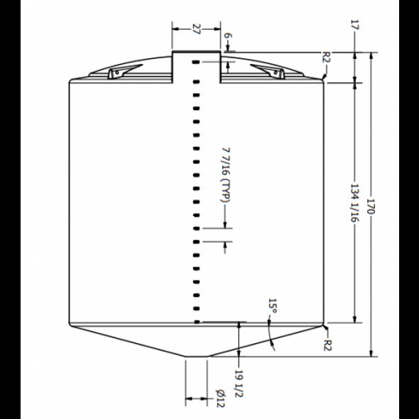 10000 Gallon Cone Bottom Tank | 44459