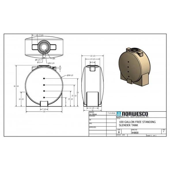 100 Gallon Doorway Tank   44800