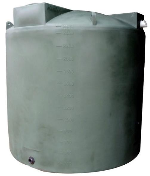 2500 Gallon Rainwater Collection Tank
