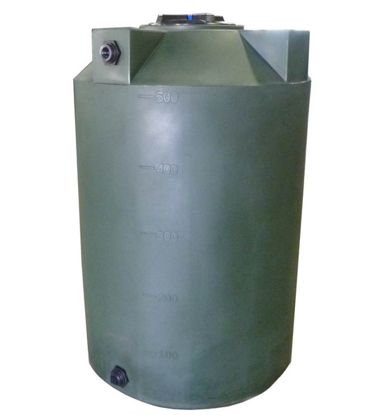 500 Gallon Vertical Water Storage Tank
