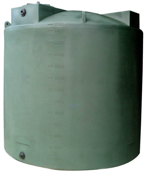2500 Gallon Vertical Water Storage Tank