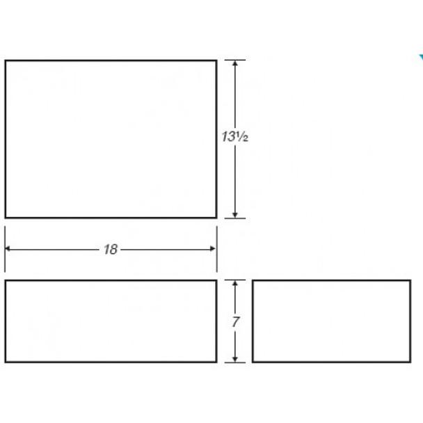 5 Gallon Rectangle Plastic Tank | B410