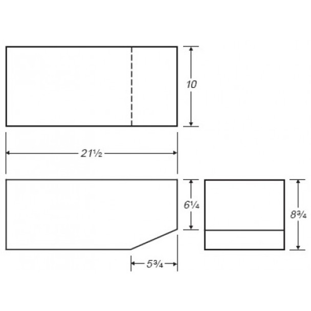 7 Gallon Rectangle Plastic Tank | B344