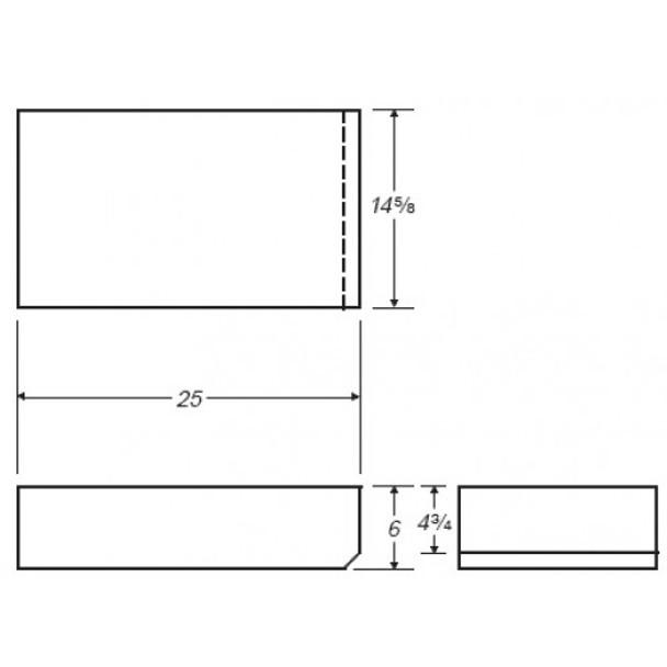 9 Gallon Rectangle Plastic Tank | B336