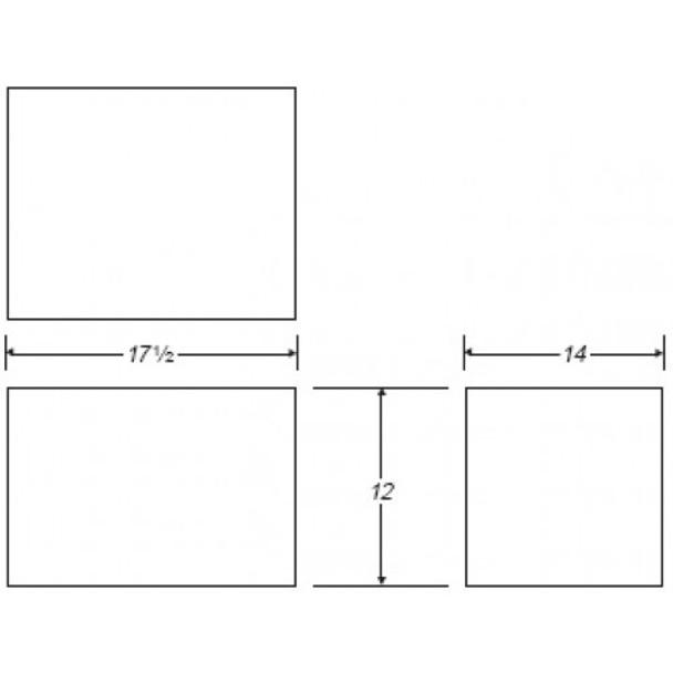 12 Gallon Rectangle Plastic Tank | B105