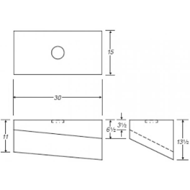 17 Gallon Rectangle Plastic Tank | B123