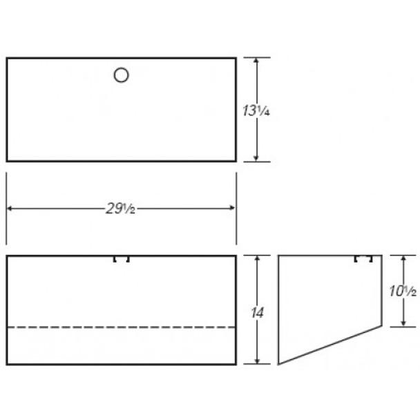 20 Gallon Rectangle Plastic Tank | B137