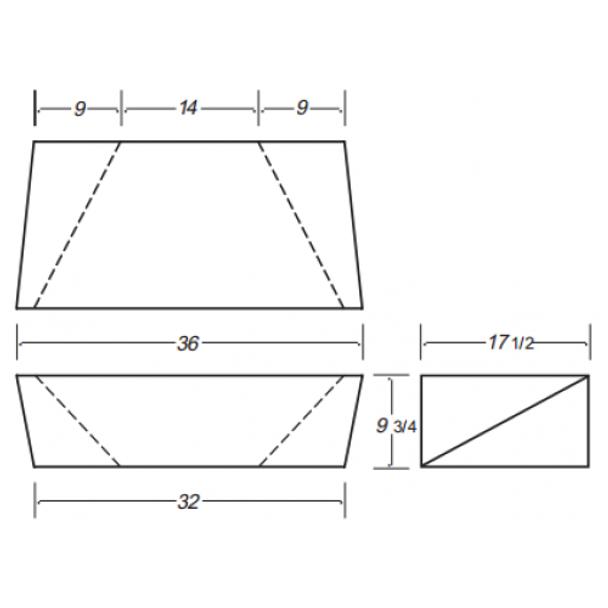 20 Gallon Rectangle Plastic Tank | B146