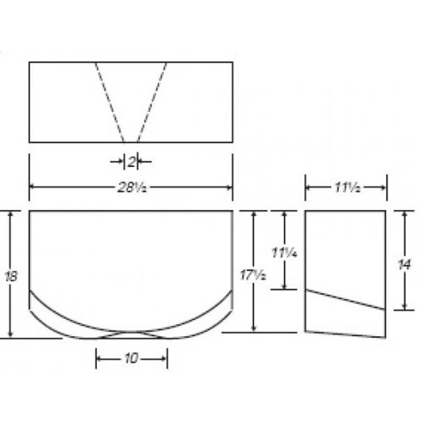 20 Gallon Rectangle Plastic Tank | B165