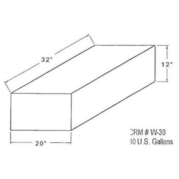 33 Gallon Rectangle Plastic Tank | W-30