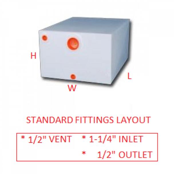 28 Gallon RV Water Tank | RVWB161
