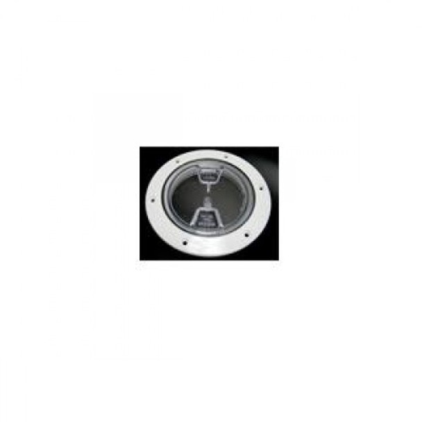 """4"""" Inspection Lid - White Collar, Clear Lid 