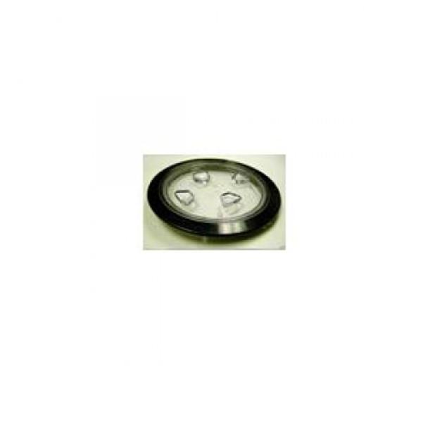 "8"" Inspection Lid - Black Collar, Clear Lid | R-DP80-B-C"