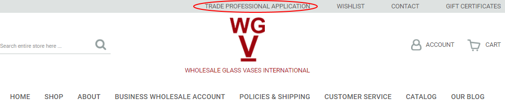 Business Wholesale Application