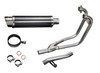 """Full System to fit GS500E/F (1989-2002 ) with DL10 Stubby 14"""" Carbon Fiber Round Muffler and Stainless Steel 2-1 Headers"""