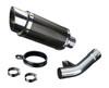 "Mini 8"" Carbon Fiber Round Muffler to fit GSX1250FA Traveller (2010-2016)"