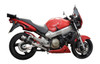 """Full System to fit CB1100SF X11 (1999-2003) with Mini 8"""" Carbon Fiber Round Muffler and Stainless Steel Headers"""