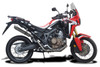 """Complete 2-1 exhaust CRF1000L Africa Twin (2016-2019) with SL10 14"""" Stainless Steel Round Muffler and Stainless Steel Headers"""