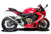 """Complete 4-1 De-Cat exhaust CBR650R (2019-2021) with SL10 14"""" Stainless Steel Round Mufflers and Stainless Steel Headers"""
